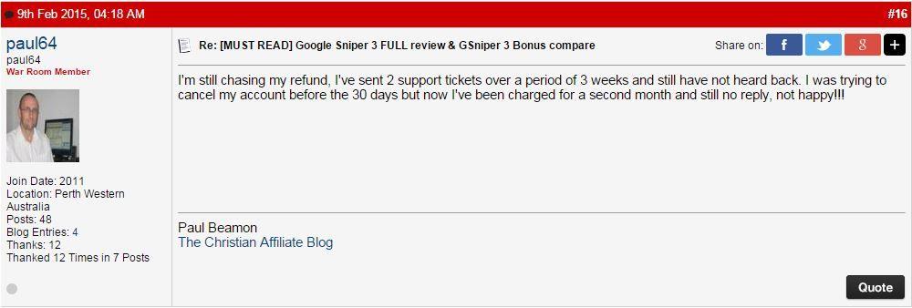 google sniper honest review scam