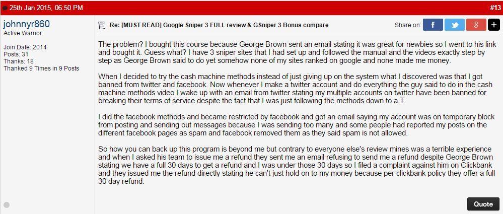 google sniper honest review 3